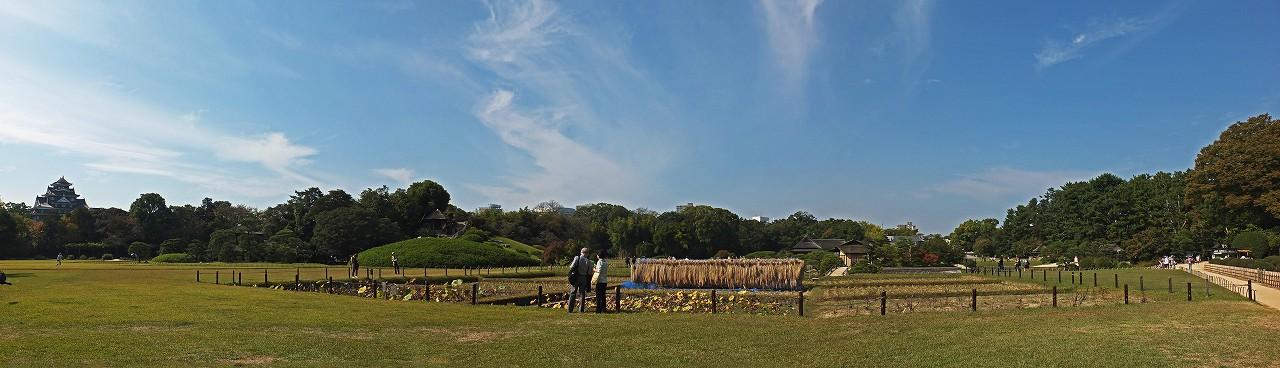 s-20151020 後楽園井田越しに眺めた今日の園内ワイド風景 (1)