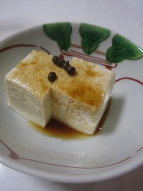 20150908 冷奴山椒醤油