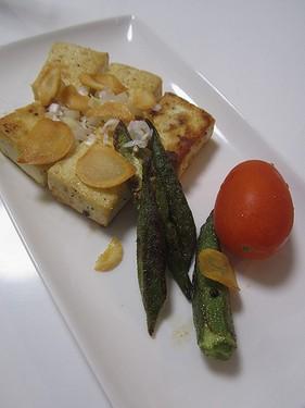 20150917 豆腐のガーリックステーキ