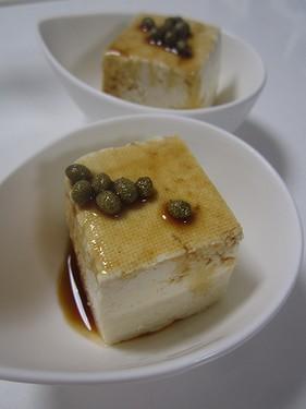 20150920冷奴山椒醤油