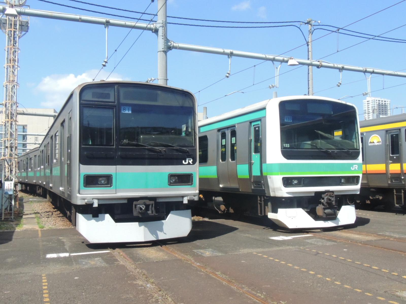TK2015年一般公開 E231系緑電と209系マト81並び (4)