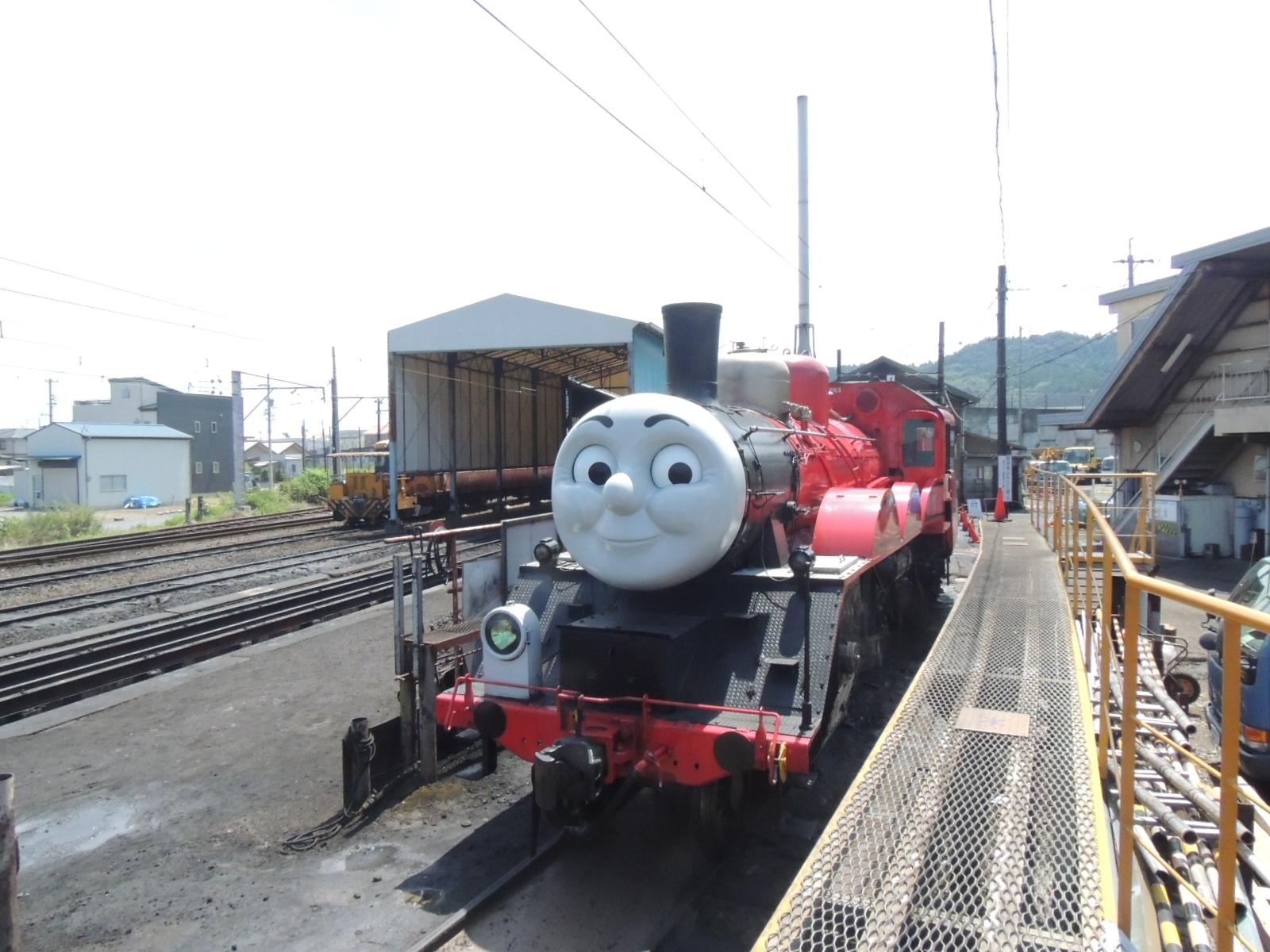 大井川鉄道SLジェームス号 新金谷機関区 (3)