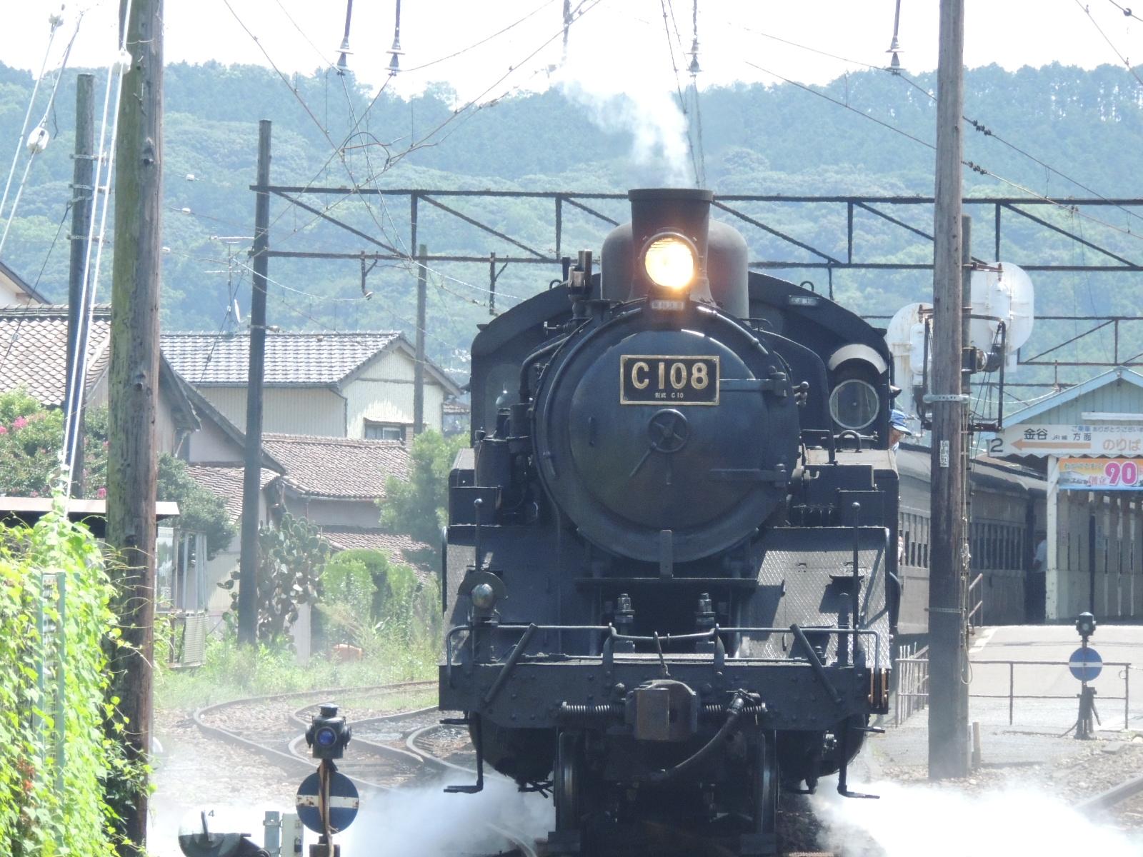 大井川鉄道SL c108号機 新金谷付近 (2)
