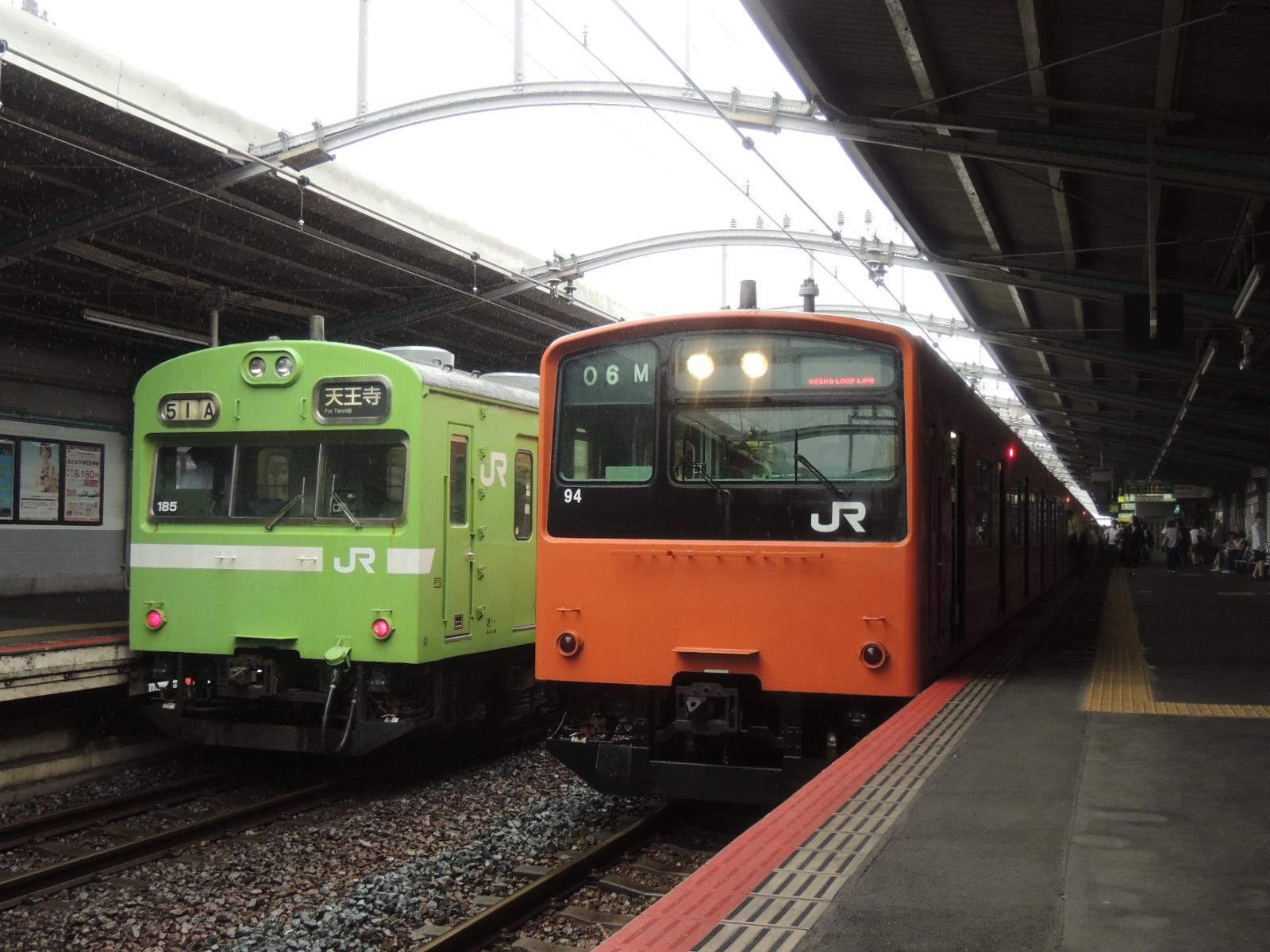 201系と103系ナラ車 鶴橋 (3)
