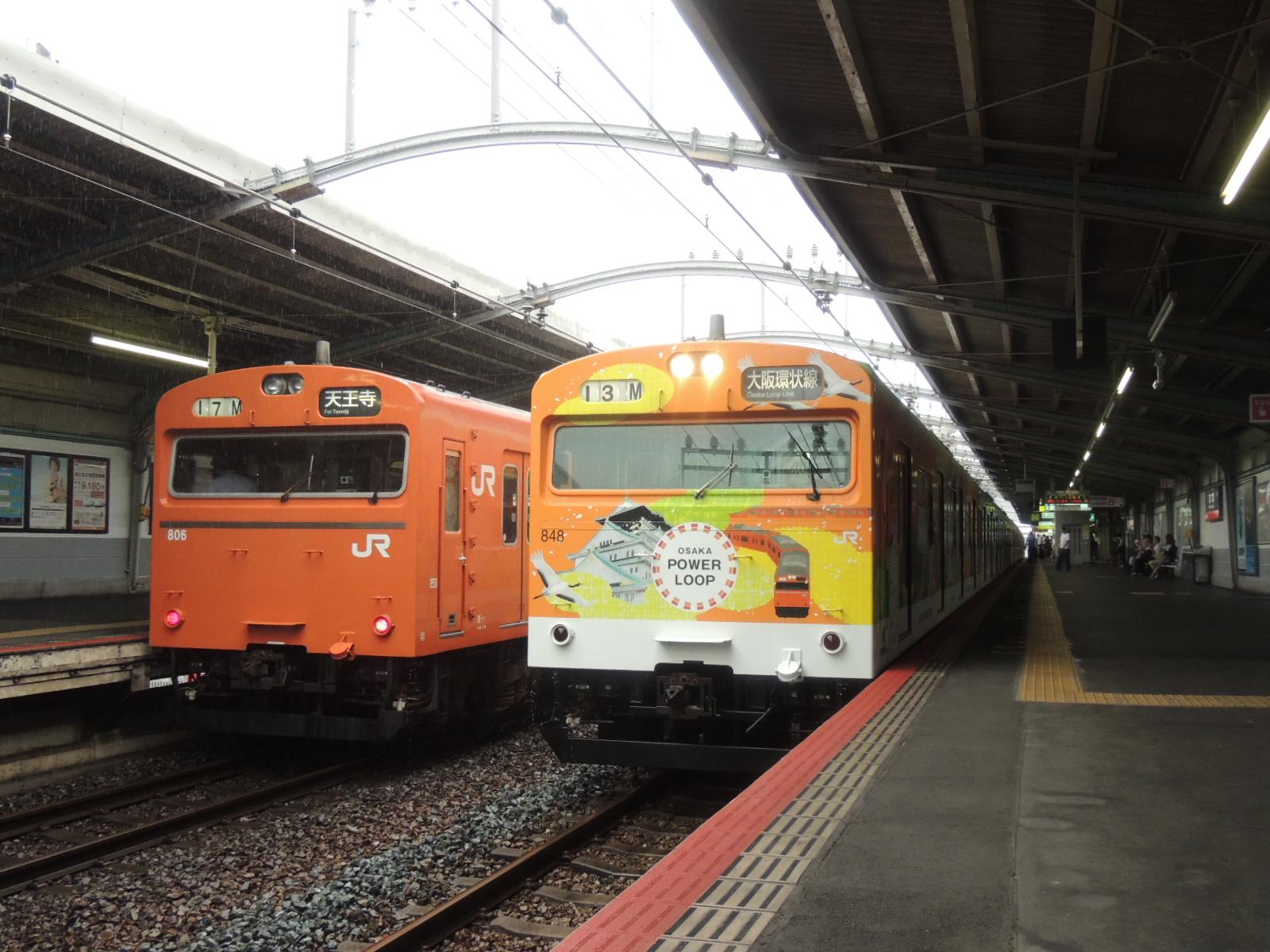 103系LA3編成パワーループ 鶴橋 (3)