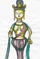 3白鳳時代の金銅観音菩薩