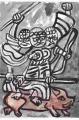 5長野県千曲市八幡大雲寺石仏霊諍山の石仏摩利支天 (1)