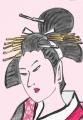 3喜多川歌麿納涼美人図