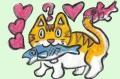 4ハートのある猫絵 (1)