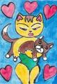 3猫の居る絵 (5)