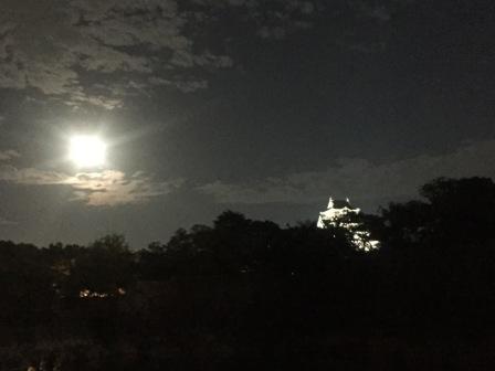 スーパームーン&大阪城