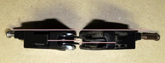 新旧戸車車輪位置