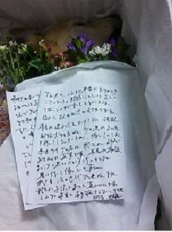フミさんからお手紙。