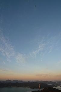 夜明けの月 空 橋