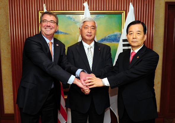 20150924米日韓国防省