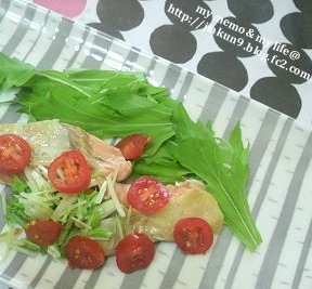 10-04 今日のおすすめ塩鮭トマト