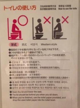 正しいトイレの使い方(那覇空港国際ターミナルにて笑)