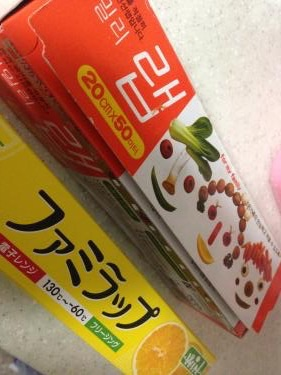 日本出張で立ち寄ったドラッグストアにて購入したラップ