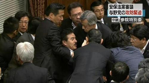 国会で暴力 3 陳哲朗 白しんくん 大西