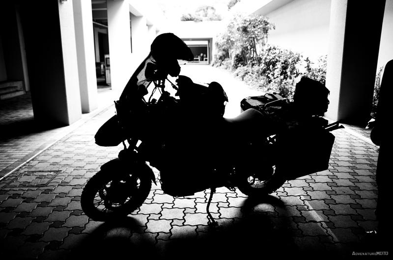 バイクのシルエット