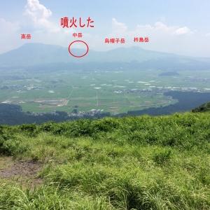 噴火した中岳