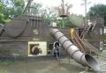 公園の海賊船