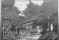 赤城神社拝殿の絵