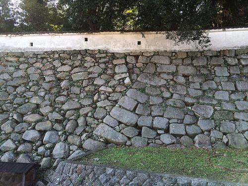 中津城石垣、
