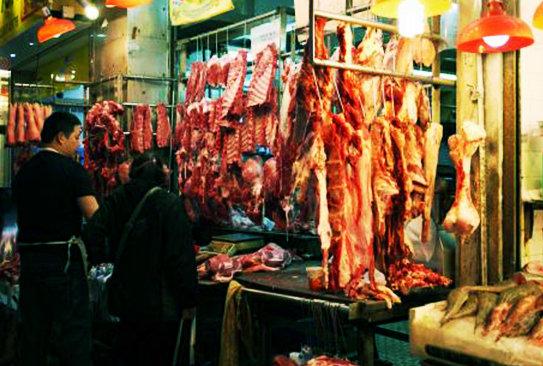 香港湾仔市場④肉やー1