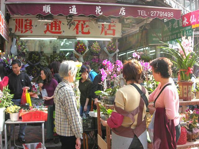 香港旧正月・花屋さん
