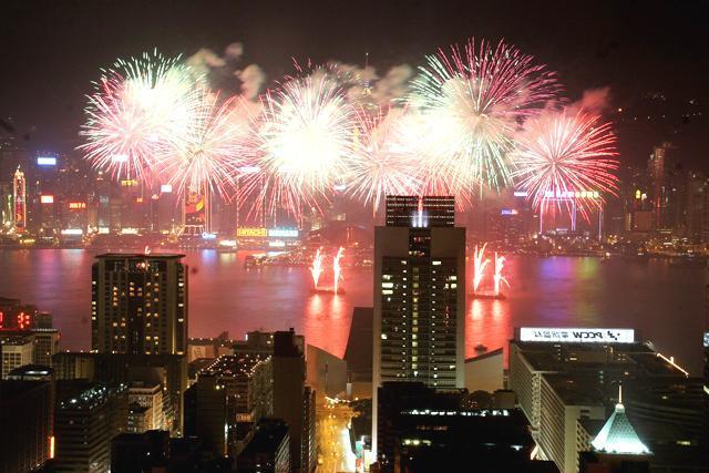 香港旧正月・花火大会