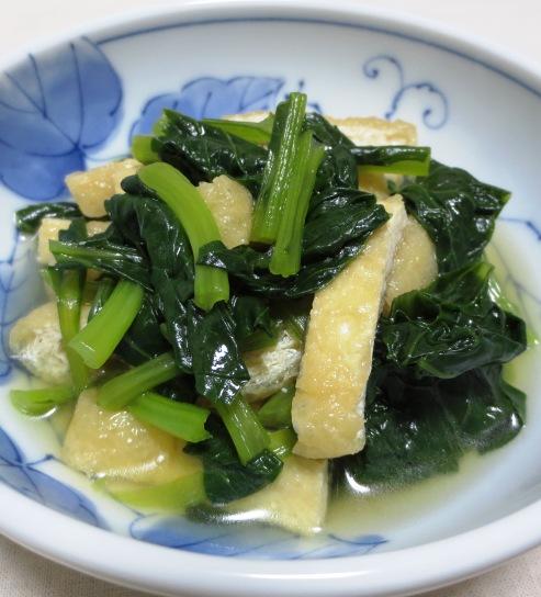 小松菜とお揚げの煮物 大