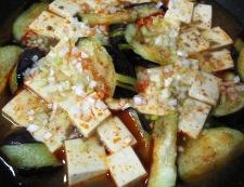 麻婆茄子豆腐 調理③
