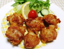 鶏の唐揚げ一味ラーユ味 調理④