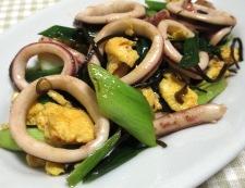 イカと炒り卵の塩昆布炒め 調理⑥