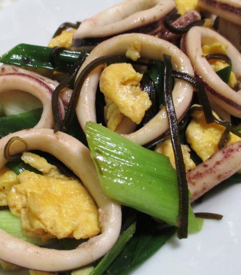 イカと炒り卵の塩昆布炒め 拡大