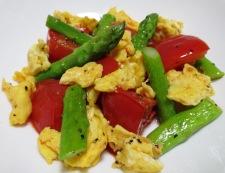 トマトと炒り卵のペパーソテー 調理⑥