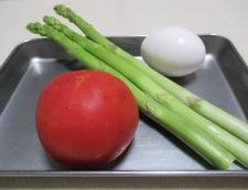 トマトと炒り卵のペパーソテー 材料