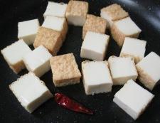 絹揚げの雷豆腐風 調理④