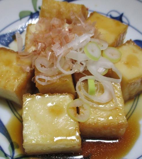 絹揚げの雷豆腐風 拡大