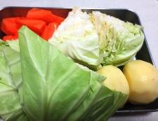 ソーセージとキャベツのスープ煮 【下準備】