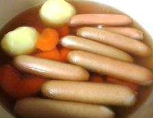 ソーセージとキャベツのスープ煮 調理①