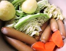 ソーセージとキャベツのスープ煮 調理②