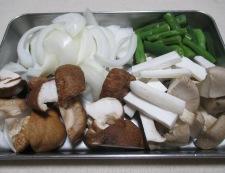 秋鮭と茸のガーリック照り焼き 【下準備】②