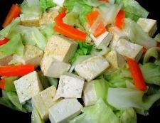豆腐のホイコーロー風 調理④