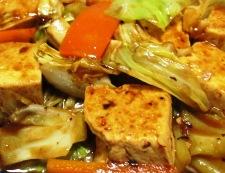 豆腐のホイコーロー風 調理⑥