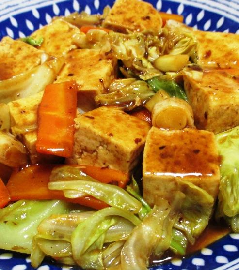 豆腐のホイコーロー風 大