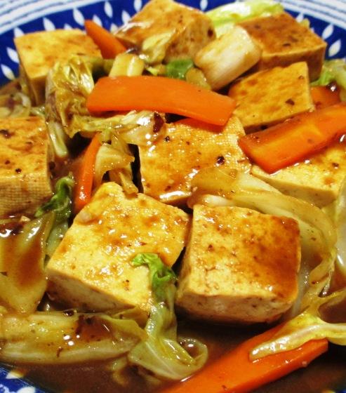 豆腐のホイコーロー風 拡大