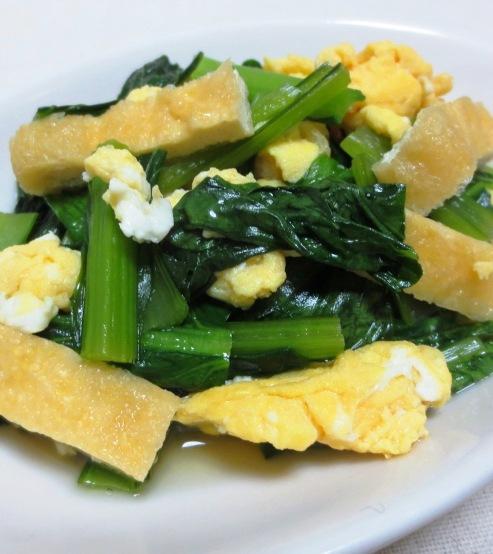 小松菜炒り卵 大