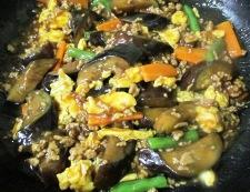 ナスと炒り卵の中華風甘味噌煮 調理⑥